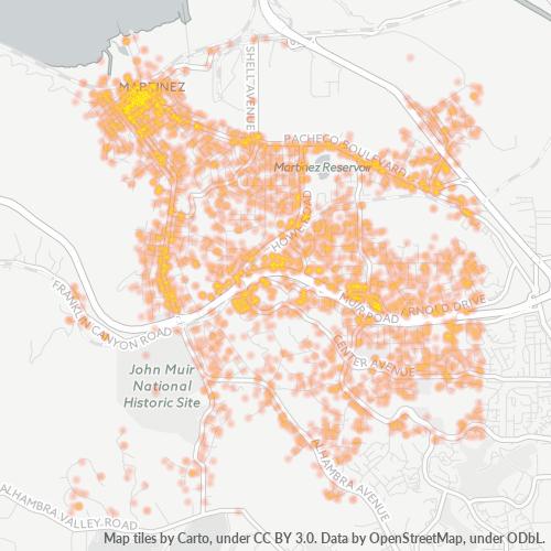 94553 Business Density Heatmap