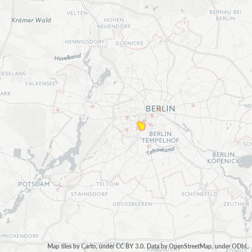 10783 Standortdichte-Heatmap