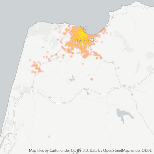 90000 Business Density Heatmap