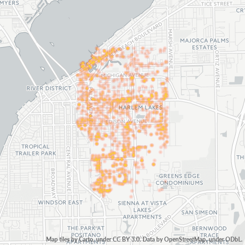 33916 Business Density Heatmap