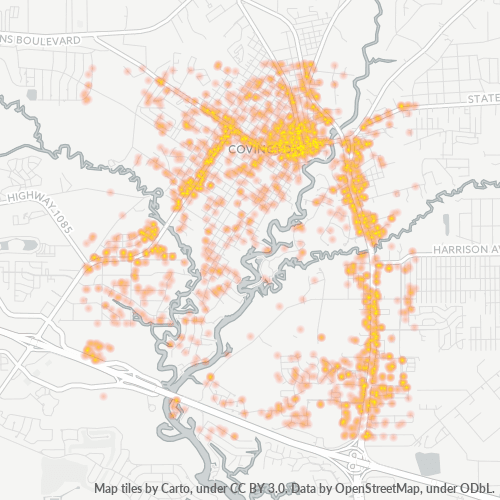 70433 Business Density Heatmap