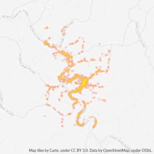 41501 Business Density Heatmap