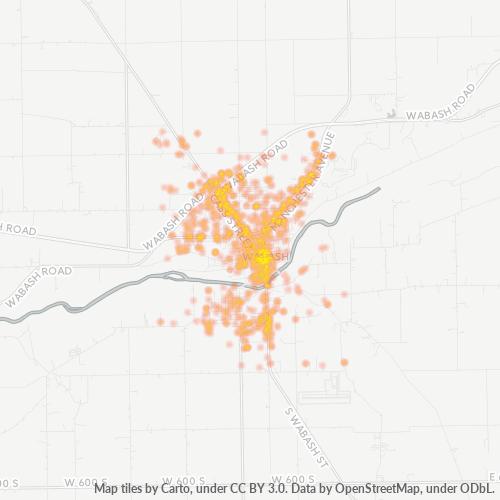 46992 Business Density Heatmap