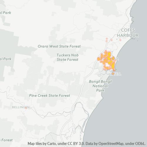2452 Business Density Heatmap