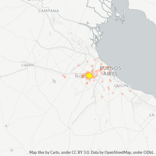 1704 Mapa de calor de densidad empresarial