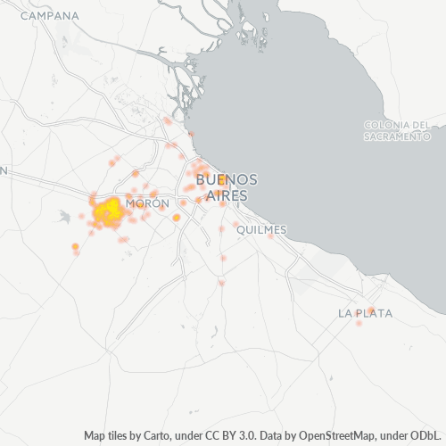 1722 Mapa de calor de densidad empresarial