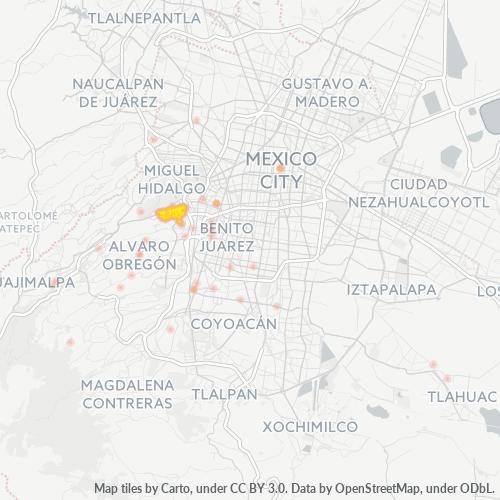 01120 Mapa de calor de densidad empresarial
