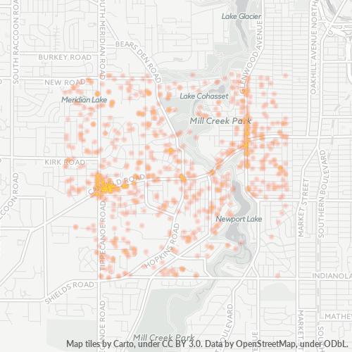 44511 Business Density Heatmap