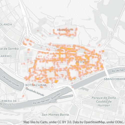 48014 Mapa de calor de densidad empresarial