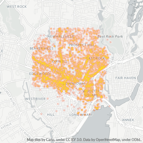 06511 Business Density Heatmap