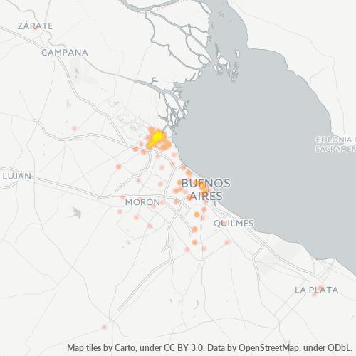 1646 Mapa de calor de densidad empresarial