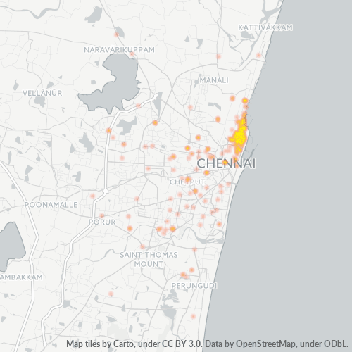 600013 Business Density Heatmap