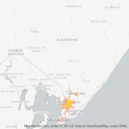 43700-000 Heatmap de Densidade da Empresa