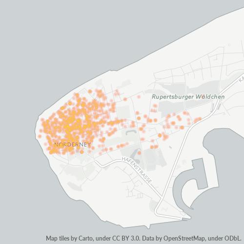 26548 Standortdichte-Heatmap
