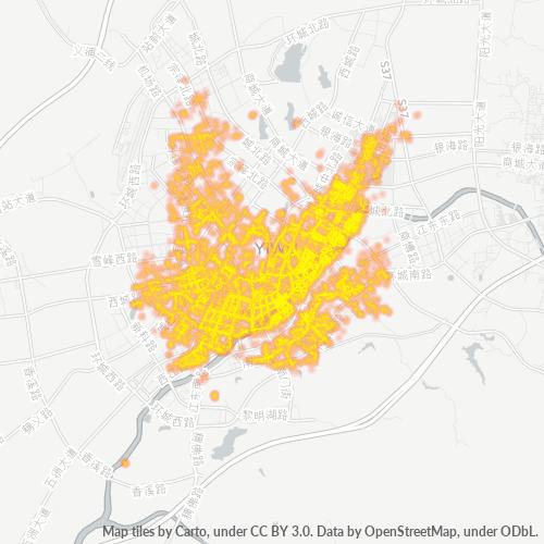 322000 企业密度热图