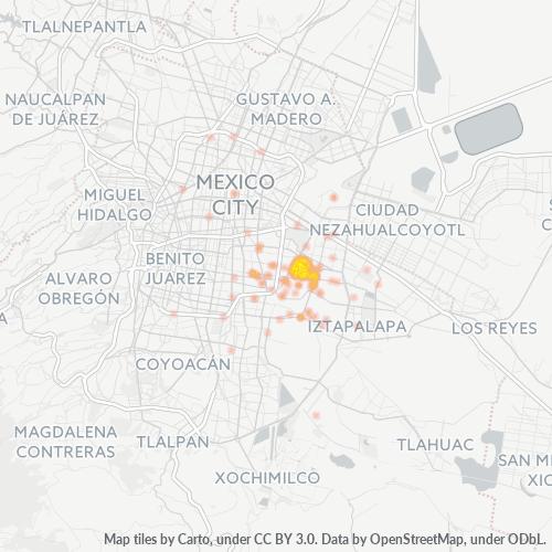 09030 Mapa de calor de densidad empresarial