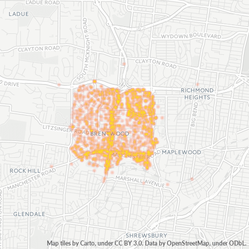 63144 Business Density Heatmap