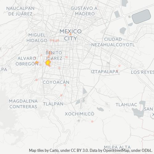 03230 Mapa de calor de densidad empresarial