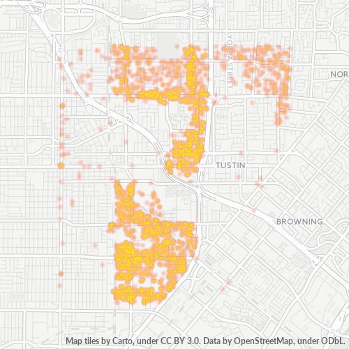 92705 Business Density Heatmap