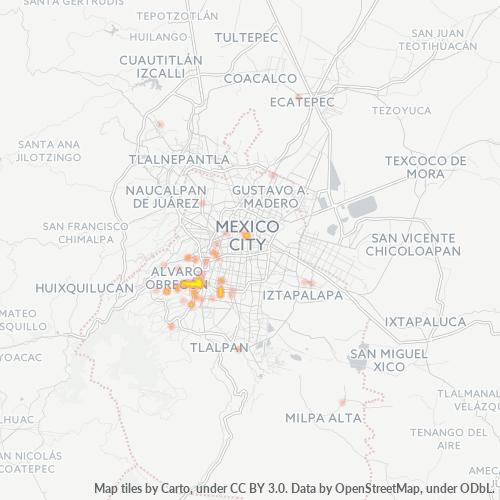 01600 Mapa de calor de densidad empresarial