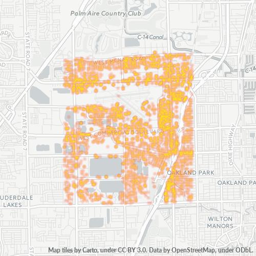 33309 Business Density Heatmap