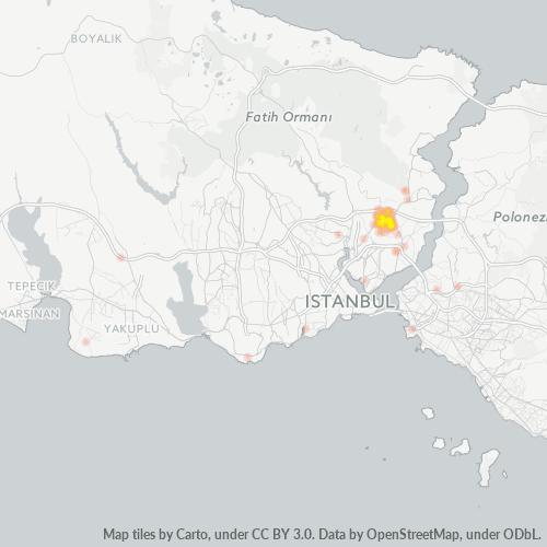 34415 Şirket Yoğunluğu Isı Haritası