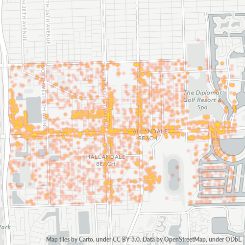 33009 Business Density Heatmap
