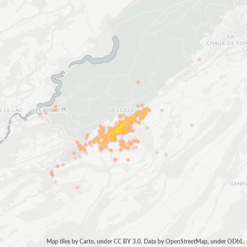 2400 Standortdichte-Heatmap