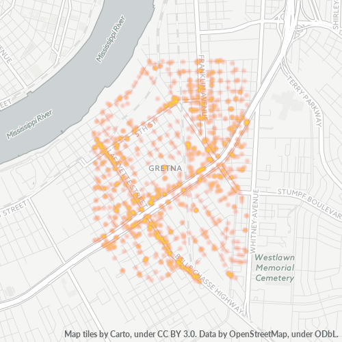 70053 Business Density Heatmap
