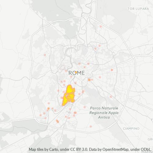 00146 Mappa di concentrazione per la densità di aziende
