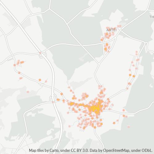54411 Standortdichte-Heatmap