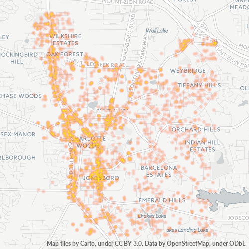 30236 Business Density Heatmap