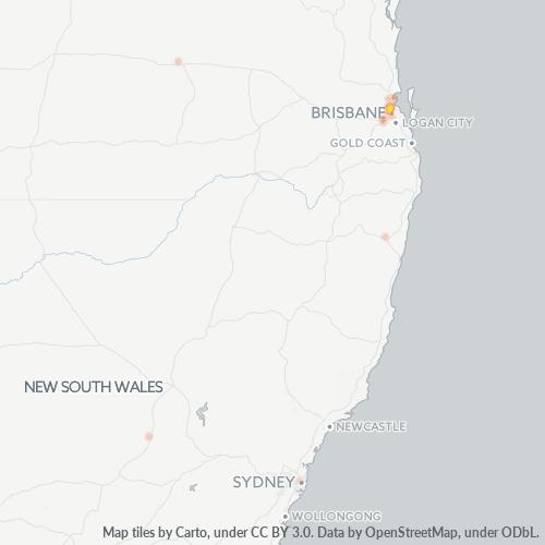 4030 Business Density Heatmap