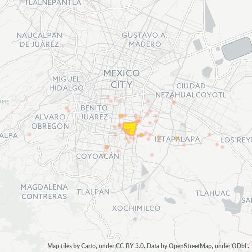 09060 Mapa de calor de densidad empresarial