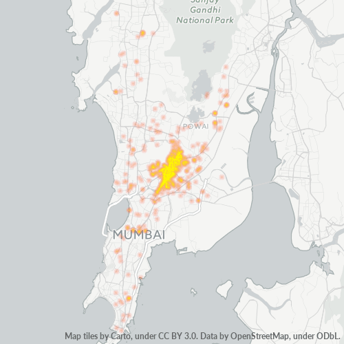 400070 Business Density Heatmap