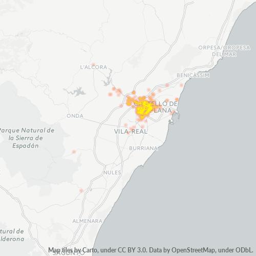 12006 Mapa de calor de densidad empresarial