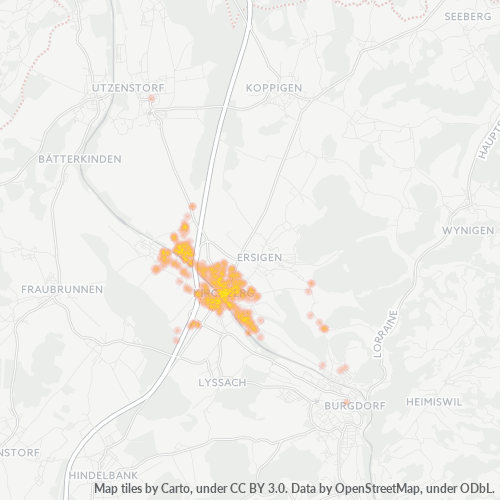 3422 Standortdichte-Heatmap