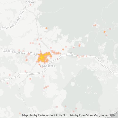 17240 Mapa de calor de densidad empresarial
