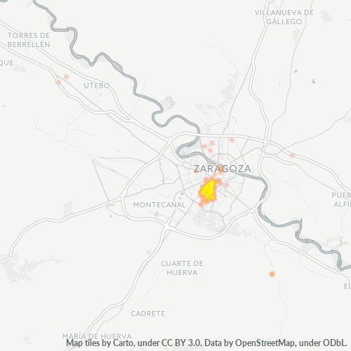 50006 Mapa de calor de densidad empresarial