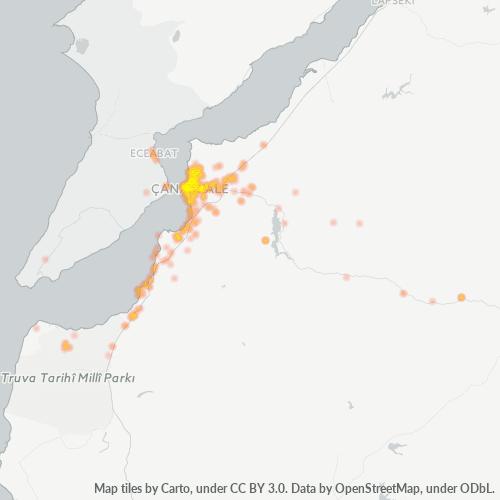 17100 Şirket Yoğunluğu Isı Haritası