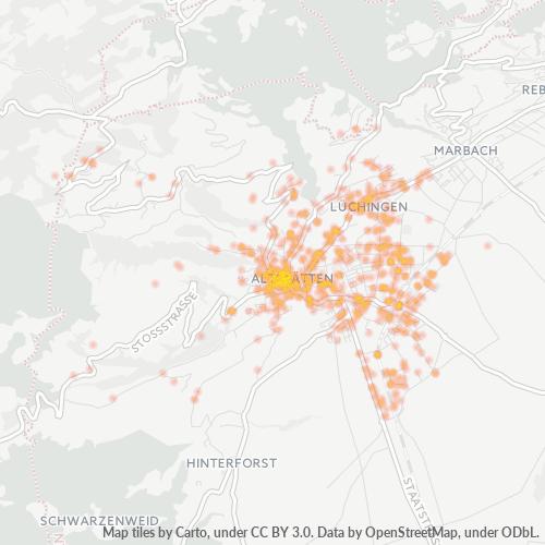 9450 Standortdichte-Heatmap