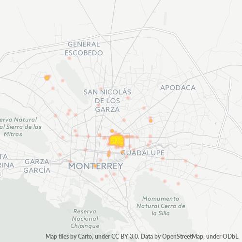 64530 Mapa de calor de densidad empresarial