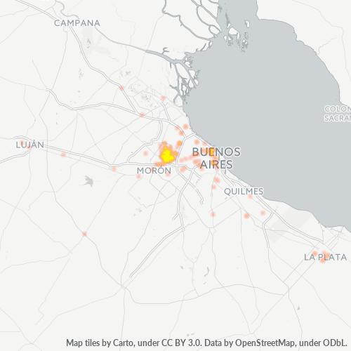 1678 Mapa de calor de densidad empresarial