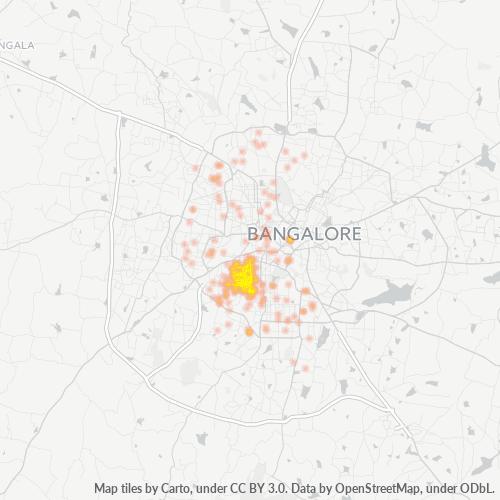 560019 Business Density Heatmap