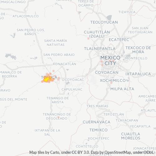 50110 Mapa de calor de densidad empresarial