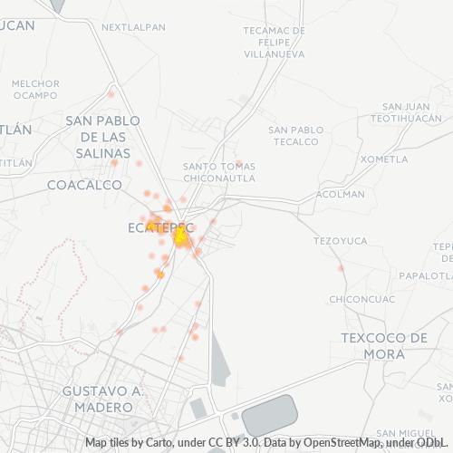 55040 Mapa de calor de densidad empresarial
