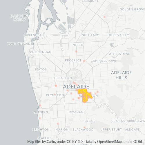 5063 Business Density Heatmap