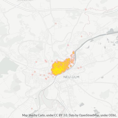 89073 Standortdichte-Heatmap