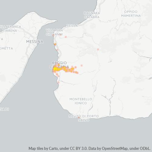 89133 Mappa di concentrazione per la densità di aziende