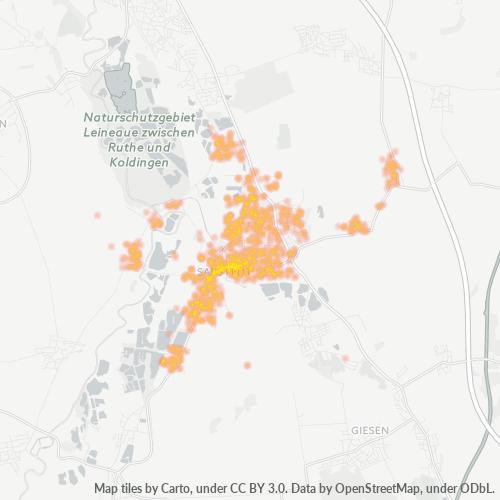 31157 Standortdichte-Heatmap